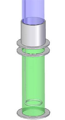 Simplified geometry of strainer