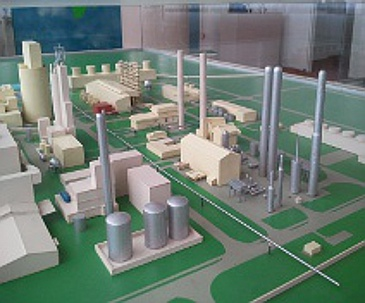 Scale-model of the ammonia factory