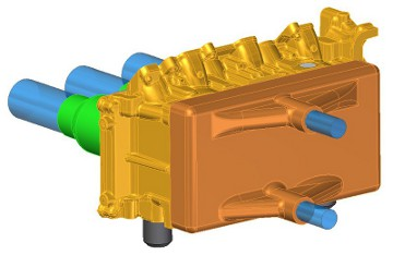 Conceptual CAD design of cleaning head attached to the fireface of cylinder head