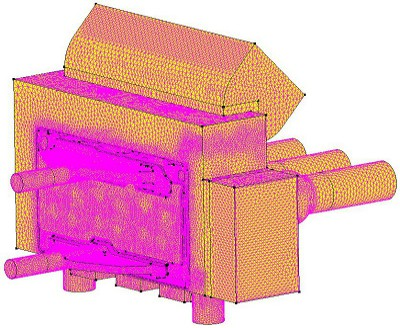Back-left view of simulation mesh