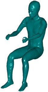 Model of a sitting man