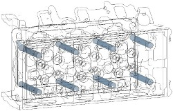 Surfaces for Measuring surfaces: holes for cylinder head bolts
