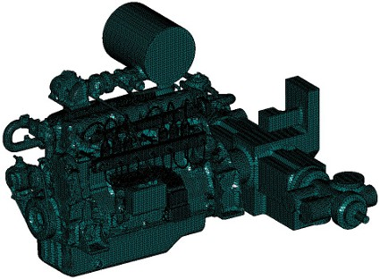 Simplified model of the engine and compressor ready for simulation