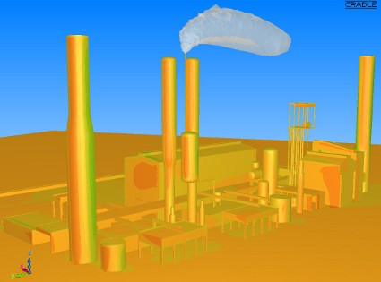 0.5% CO2 concentration above ammonia factory