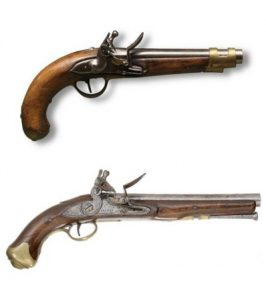 Flintlocks from the 18th century