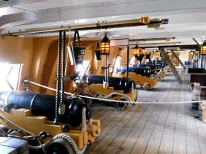 HMS Wictory (1765), upper gundeck of Lord Nelson's flagship; Photo: RD