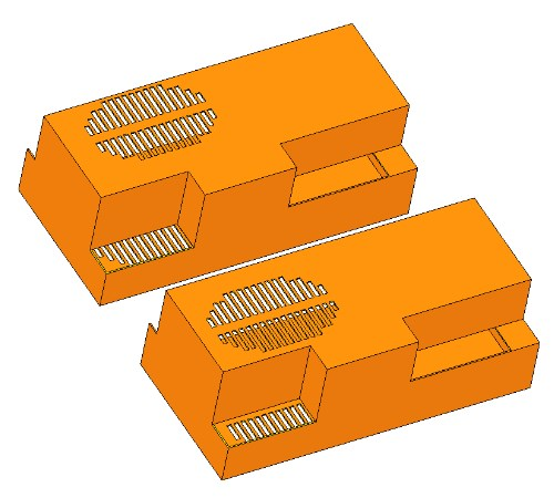 Comparison of top vents location for electronics CFD simulation